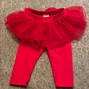Gymboree Bottoms - Gymboree 6-12 months red leggings with tutu
